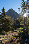 Sun and mountain, John Muir Wilderness, Inyo National Forest, California