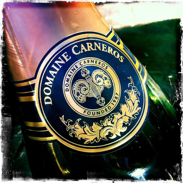 25 February 2012: Domaine Carneros wine tasting in Carneros, California.  iPhone Stock Photo
