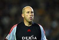 Fotball, 4. november 2003, Champions League,, Club Brugge ( Brügge )-Milan 0-1,  Dany Verlinden, Brugge