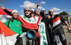 Iraq Supporters before the soccer match of the 2009 Confederations Cup between Spain and Iraq played at Vodacom Park,Bloemfontein,South Africa on 17 June 2009.  Photo: Gerhard Steenkamp/Superimage Media.