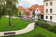 City park in old town Gradec, Zagreb, Croatia