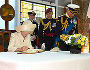 03.JUNE.2012. LONDON<br /> <br /> CAMILLA PARKER BOWLES, CAMILLA DUCHESS OF CORNWALL SIGNING THE ROYAL GUEST BOOK AT HMS PRESIDENT. EARLIER, THE QUEEN AND PRINCE PHILIP WERE ONBOARD THE ROYAL BARGE, THE SPIRIT OF CHARTWELL WITH SEVERAL OTHER ROYAL FAMILY MEMBERS CELEBRATING THE QUEEN'S DIAMOND JUBILEE PAGEANT ON THE RIVER THAMES IN LONDON<br /> <br /> BYLINE: EDBIMAGEARCHIVE.CO.UK<br /> <br /> *THIS IMAGE IS STRICTLY FOR UK NEWSPAPERS AND MAGAZINES ONLY*<br /> *FOR WORLD WIDE SALES AND WEB USE PLEASE CONTACT EDBIMAGEARCHIVE - 0208 954 5968*