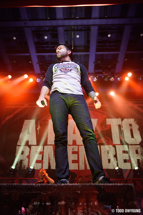 A Day To Remember performing at the Pageant in St. Louis on April 3, 2013.