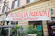 Roma 11 Agosto 2014.<br /> Gli occupanti del Teatro Valle nel giorno della riconsegna dello stabile al Comune di Roma.<br /> La Fondazione Teatro Valle Bene Comune, i suoi artisti e le sue maestranze preparano un nuovo palco all'esterno del teatro  che sarà una piattaforma di sperimentazione artistica e teatrale.<br /> Rome August 11, 2014. <br /> The occupants of the Teatro Valle in the day of delivery of the building to the City of Rome. <br /> The press conference in the foyer. The Fondazione Teatro Valle Common Good, its artists and its workers prepare a new stage outside of the theater that will be a platform for artistic experimentation and  theatrical.