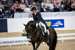 LYLE Adrienne (USA), Salvino<br /> Göteborg - Gothenburg Horse Show 2019 <br /> FEI Dressage World Cup™ Final I<br /> Int. dressage competition - Grand Prix de Dressage<br /> Longines FEI Jumping World Cup™ Final and FEI Dressage World Cup™ Final<br /> 05. April 2019<br /> © www.sportfotos-lafrentz.de/Stefan Lafrentz
