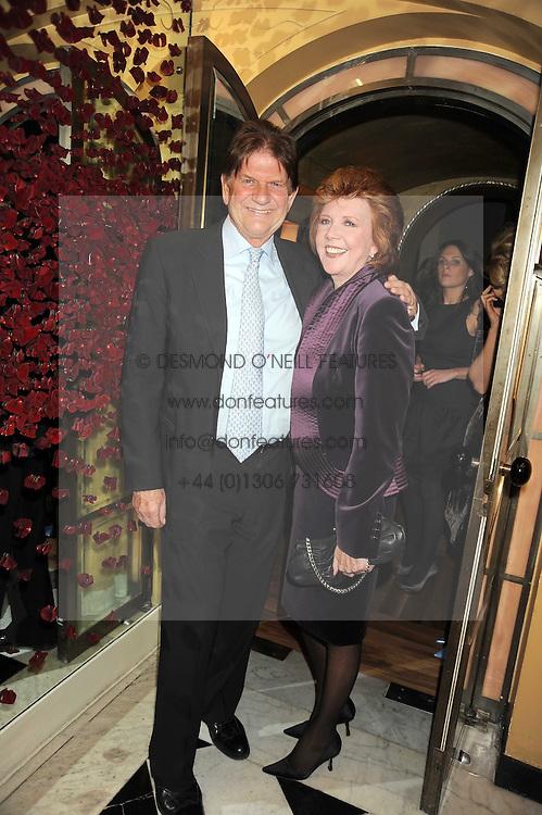 CILLA BLACK and JOHN MADEJSKI at a party to celebrate the 10th Anniversary of Claridge's Bar, Claridge's Hotel, Brook Street, London on 11th November 2008.