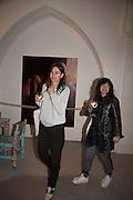 CORNELIA GRASSI; FRANCES STARK, Stefania Pramma launched her handbag brand PRAMMA  at the Kensington residence of her twin sister, art collector Valeria Napoleone.. London.  29 April 2015