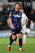 Leeds United defender Gaetano Berardi (28) during the EFL Sky Bet Championship match between Swansea City and Leeds United at the Liberty Stadium, Swansea, Wales on 21 August 2018.