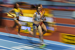 March 2, 2018 - Birmingham, England, United Kingdom - Laura Muir of Great Britain at 1500 meter semi final at World indoor Athletics Championship 2018, Birmingham, England on March 2, 2018. (Credit Image: © Ulrik Pedersen/NurPhoto via ZUMA Press)