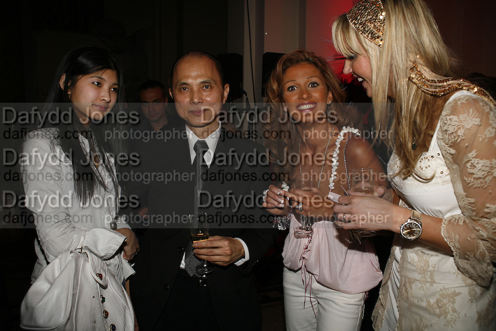 Emily Choo, Jimmy Choo, Loui Fish and Ragna Hreidarsson, . Russian Fashion Forum launch party. Victoria & Albert Museum. April 21 2006 ONE TIME USE ONLY - DO NOT ARCHIVE  © Copyright Photograph by Dafydd Jones 66 Stockwell Park Rd. London SW9 0DA Tel 020 7733 0108 www.dafjones.com