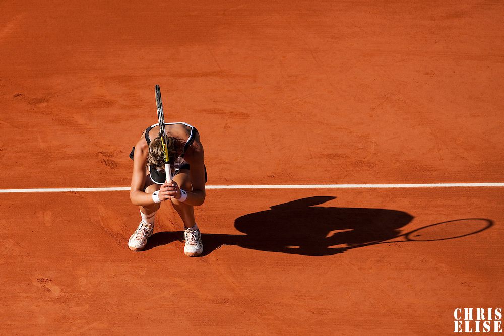 30 May 2009: Maria Jose Martinez Sanchez of Spain looks dejected during the the Women's Third Round match on day seven of the French Open at Roland Garros in Paris, France.