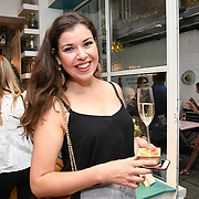 Annelotte van den Bosch @annelottevdbosch of Pitch PR attend the Oppo party to launch its new Madagascan Vanilla, Sicilian Lemon and Raspberry Cheesecakes, served with Skinny Prosecco at Farm Girls Café, 1 Carnaby Street, Soho, London, UK on July 18 2018.