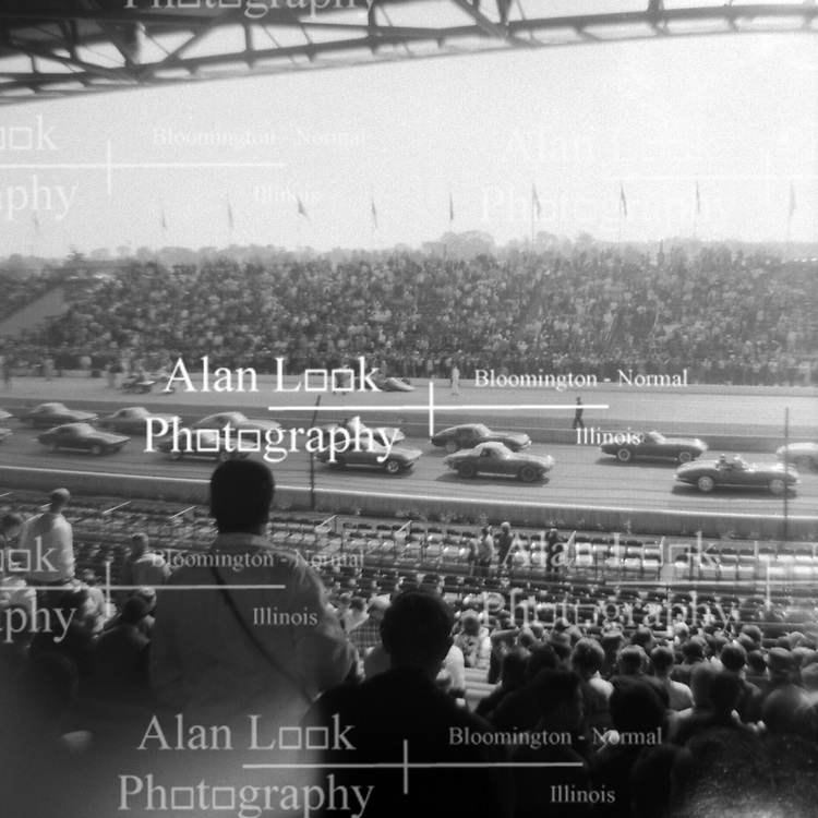 Indianapolis Speedway Time Trials - May 1967<br /> <br /> This image was scanned from a slide, print or transparency.  Image quality may vary.  Dust and other unwanted artifacts may exist.