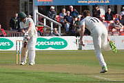 WICKET - Paul Horton is out 1st ball during the Specsavers County Champ Div 2 match between Leicestershire County Cricket Club and Lancashire County Cricket Club at the Fischer County Ground, Grace Road, Leicester, United Kingdom on 23 September 2019.