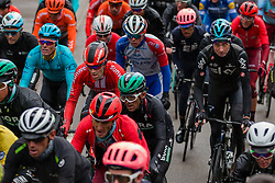 Peloton with Tom Dumoulin (NED) of Team Sunweb (GER,WT,Cerv&eacute;lo) at C&ocirc;te de Stockeu during the 2019 Li&egrave;ge-Bastogne-Li&egrave;ge (1.UWT) with 256 km racing from Li&egrave;ge to Li&egrave;ge, Belgium. 28th April 2019. Picture: Pim Nijland | Peloton Photos<br /> <br /> All photos usage must carry mandatory copyright credit (Peloton Photos | Pim Nijland)