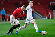 Leeds United Stuart McKinstry (7)  during the FA Youth Cup match between U18 Manchester United and U18 Leeds United at Old Trafford, Manchester, England on 5 February 2020.