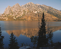 Early Morning Jenny Lake Reflections. Image taken with a Nikon D200 camera and 18-75 mm kit lens (ISO 100, 18 mm, f/5.6, 1/180 sec).