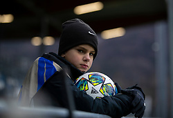 GRÖDIG, AUSTRIA - Tuesday, December 10, 2019: A ball boy during the final UEFA Youth League Group E match between FC Salzburg and Liverpool FC at the Untersberg-Arena. (Pic by David Rawcliffe/Propaganda)