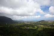 The spectacular view from Nu'uanu Pali.