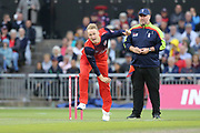 Lancashire Lightnings Matthew Parkinson   during the Vitality T20 Blast North Group match between Lancashire Lightning and Leicestershire Foxes at the Emirates, Old Trafford, Manchester, United Kingdom on 30 August 2019.