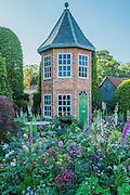 The Harrods British Eccentrics Garden by Diarmuid Gavin - as the sun rises.