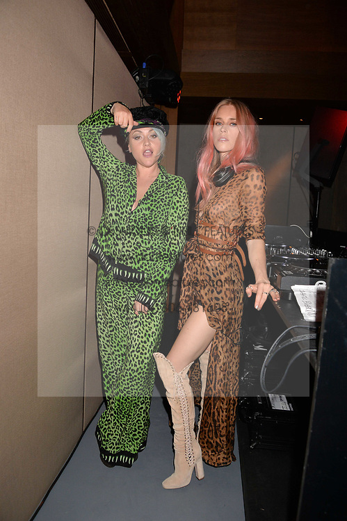 Jaime Winstone and Lady Mary Charteris at the Warner Music Group and British GQ Summer Party in partnership with Quintessentially held at Nobu Shoreditch Willow Street, London England. 5 July 2017.<br /> Photo by Dominic O'Neill/SilverHub 0203 174 1069 sales@silverhubmedia.com