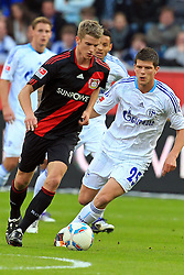 23.10.2011,  BayArena, Leverkusen, GER, 1.FBL, Bayer 04 Leverkusen vs Schalke 04, im Bild.Lars Bender (Leverkusen #8) gegen Klaas-Jan Huntelaar (Schalke #25)..// during the 1.FBL, Bayer Leverkusen vs Schalke 04 on 2011/10/23, BayArena, Leverkusen, Germany. EXPA Pictures © 2011, PhotoCredit: EXPA/ nph/  Mueller       ****** out of GER / CRO  / BEL ******