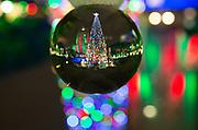Crystal ball, Christmas tree, City Hall, Houston, Texas, holiday lights, light display,