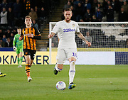 Leeds United defender Pontus Jansson (18)  during the EFL Sky Bet Championship match between Hull City and Leeds United at the KCOM Stadium, Kingston upon Hull, England on 2 October 2018.