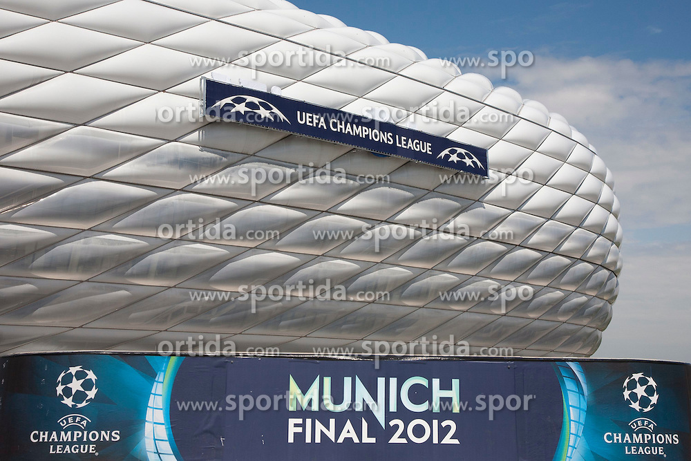 18.05.2012, Allianz Arena, Muenchen, GER, UEFA CL, Finale, Vorberichte, im Bild Allianz Arena München // preliminary reports vor the UEFA CL final on picture stadium allianz arena, munich, GER, on 2012/05/18. EXPA Pictures © 2012, PhotoCredit: EXPA/Gunn Mitchell