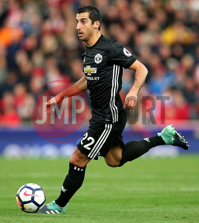 Henrikh Mkhitaryan of Manchester United - Mandatory by-line: Matt McNulty/JMP - 09/09/2017 - FOOTBALL - Bet365 Stadium - Stoke-on-Trent, England - Stoke City v Manchester United - Premier League