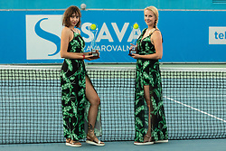 Trophies prior to the Final match at Day 10 of ATP Challenger Zavarovalnica Sava Slovenia Open 2019, on August 18, 2019 in Sports centre, Portoroz/Portorose, Slovenia. Photo by Vid Ponikvar / Sportida