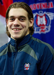 Gasper Kopitar during photo session of Slovenian U20 ice-hockey team, on December 08, 2011 in Ledena dvorana, Bled, Slovenia. (Photo By Vid Ponikvar / Sportida.com)