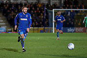 AFC Wimbledon attacker Shane McLoughlin (19) running down the wing during the EFL Sky Bet League 1 match between AFC Wimbledon and Peterborough United at the Cherry Red Records Stadium, Kingston, England on 18 January 2020.