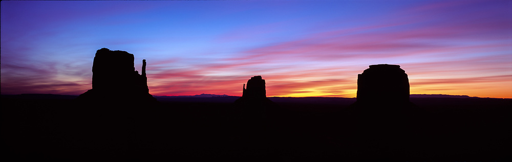 Three Buttes, Monument Valley, Arizona, USA, 1994