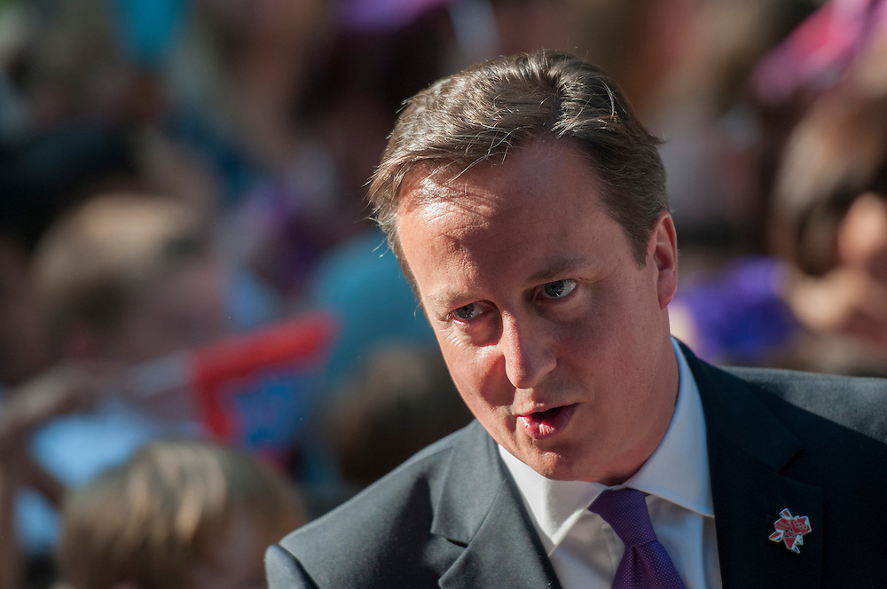 UK Prime Minister David Cameron during London 2012 Celebrations at Downing Street.