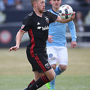 NEW YORK, NEW YORK - March 12:  Rob Vincent #26 of D.C. United in action during the NYCFC Vs D.C. United regular season MLS game at Yankee Stadium on March 12, 2017 in New York City. (Photo by Tim Clayton/Corbis via Getty Images)