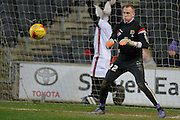 MK Dons goal keeper Cody Cropper warms up ahead of his first ever start  during the Sky Bet Championship match between Milton Keynes Dons and Huddersfield Town at stadium:mk, Milton Keynes, England on 23 February 2016. Photo by Dennis Goodwin.