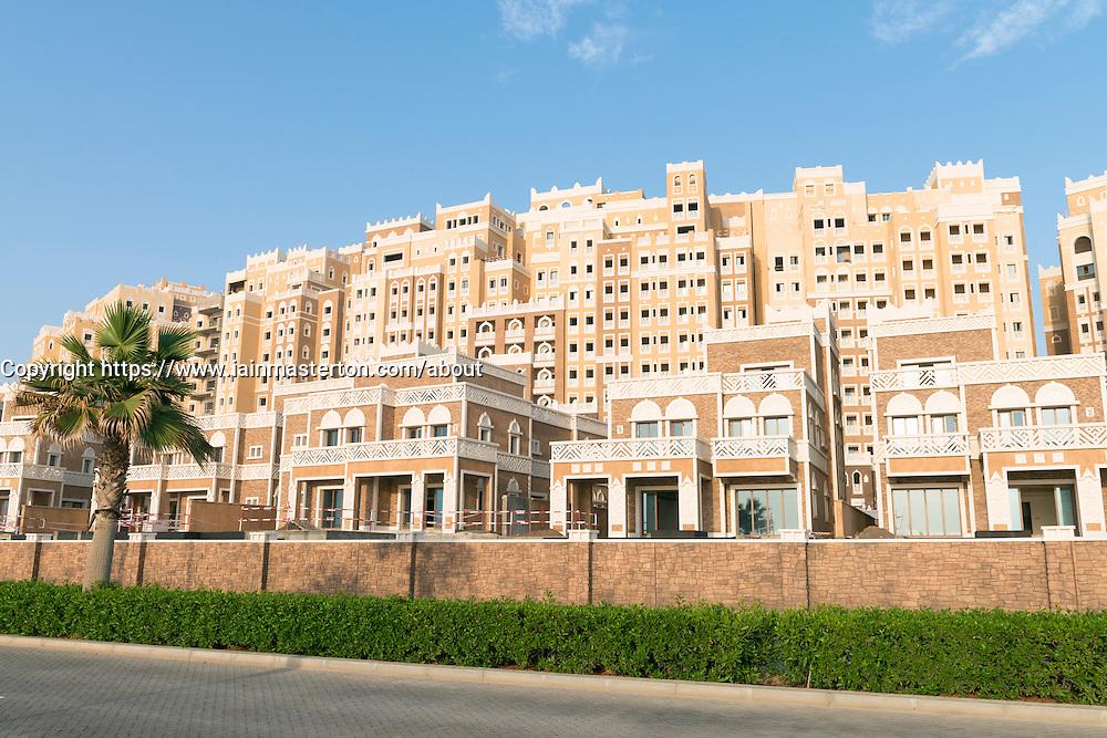 Luxury hotel development Kingdom of Sheba under construction on The Palm Jumeirah island in Dubai united Arab Emirates