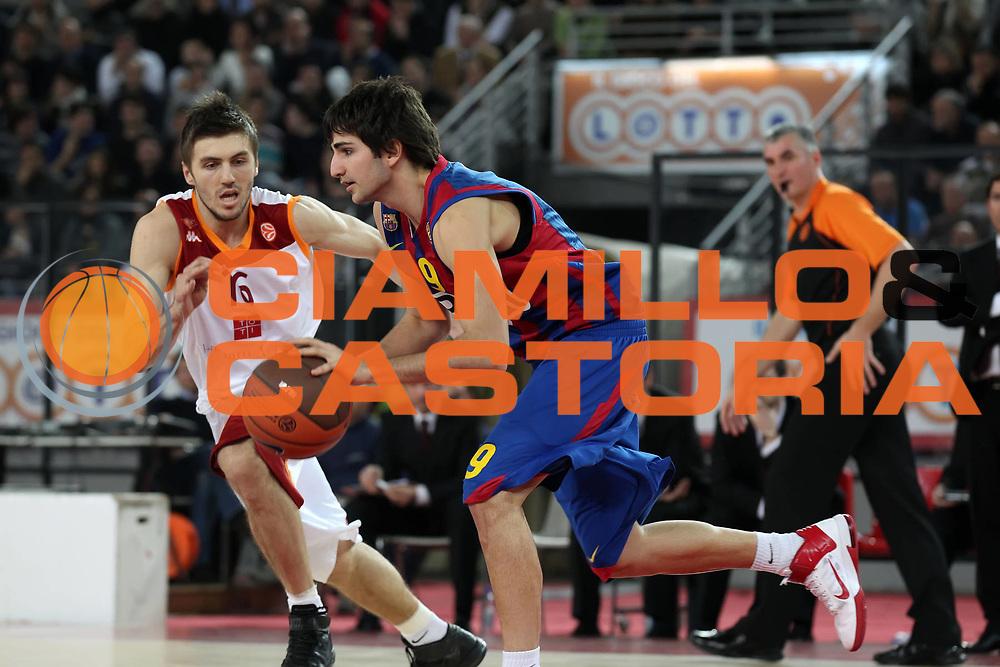 DESCRIZIONE : Roma Eurolega 2010-11 Top 16 Lottomatica Virtus Roma Regal Barcelona Barcellona<br /> GIOCATORE : Ricky Rubio<br /> SQUADRA : Regal Barcelona Barcellona<br /> EVENTO : Eurolega 2010-2011<br /> GARA : Lottomatica Virtus Roma Regal Barcelona Barcellona Barcelona<br /> DATA : 17/02/2011<br /> CATEGORIA : palleggio<br /> SPORT : Pallacanestro <br /> AUTORE : Agenzia Ciamillo-Castoria/ElioCastoria<br /> Galleria : Eurolega 2010-2011<br /> Fotonotizia : Roma Eurolega 2010-11 Top 16 Lottomatica Virtus Roma Regal Barcelona Barcellona<br /> Predefinita :