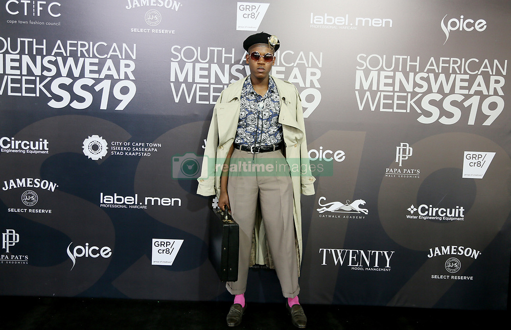 Cape Town-180707- Fashin blogger Sinalo Mapatwana at the SA mens wear week  held at the Lookout, V&A Waterfront. Picture: Siphephile Sibanyoni/ African News Agency (ANA).