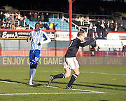 Dundee's Steven Milne celebrates after scoring the equaliser - Dundee v Kilmarnock, William Hill Scottish FA Cup 4th Round,..- © David Young - .5 Foundry Place - .Monifieth - .DD5 4BB - .Telephone 07765 252616 - .email; davidyoungphoto@gmail.com - .web; www.davidyoungphoto.co.uk.