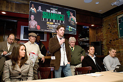 February 14, 2006 - New York, NY - Ireland's John Duddy during the presser announcing his upcoming middleweight bout against Shelby Pudwill.  The two will meet on March 16th at Madison Square Garden in a prelude to St. Patrick's Day.