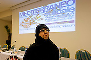 Roma 26 Settembre 2015<br /> Convegno internazionale &ldquo;Mediterraneo Solidale&rdquo;, organizzato dalla onlus Solidarit&eacute; Identit&eacute;s. Un incontro su come l&rsquo;ex &ldquo;Mare Nostrum&rdquo; possa ridiventare luogo di civilt&agrave; e di incontro fra culture differenti.  Rima Fakhri membro del consiglio politico di Hezbollah. <br /> Rome September 26, 2015<br /> International conference &quot;Mediterranean Solidarity&quot;, organized by the non-profit organization Solidarit&eacute; Identit&eacute;s. A meeting about  how the former &quot;Mare Nostrum&quot; can  become a place of civilization and encounter between different cultures. Rima Fakhri member of the political council of Hezbollah.