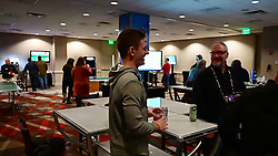 General images of the media party at Ponce City Market's 9 Mile Station during preparations for the Chick-fil-A Peach Bowl, December 28, 2018, in Atlanta. Michigan will face Florida at Mercedes-Benz Stadium as part of the New Year's Six on December 29, 2018. (David Tulis via Abell Images for Chick-fil-A Peach Bowl)