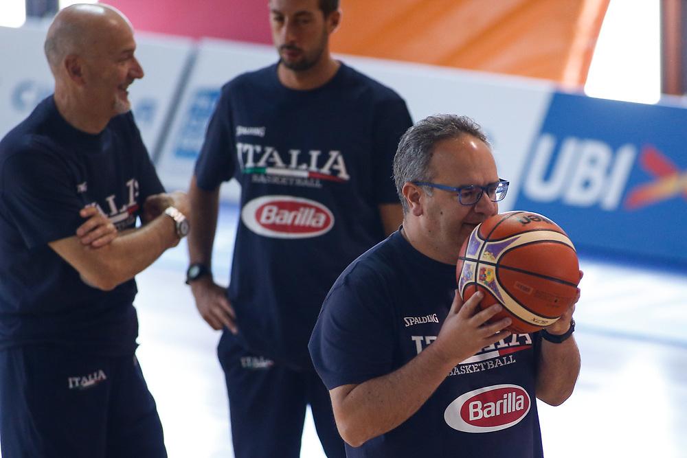 Stefano Sacripanti<br /> Raduno Nazionale Maschile Senior<br /> Allenamento mattina<br /> Folgaria, 25/07/2017<br /> Foto Ciamillo-Castoria/ M. Brondi