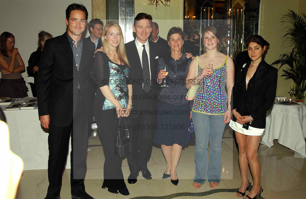 Left to right, JOSHUA ANDREWS, his wife ABIGAIL, actor ANTHONY ANDREWS, his wife GEORGINA ANDREWS, MISS AMY SAMANTHA ANDREWS and MISS JESSICA ANDREWS at a party to celebrate the publication of Bruce Oldfield's autobiography &quot;Rootless&quot; held in aid of Crimestoppers at Claridge's, Brook Street, London W1 on 22nd September 2004.<br />
