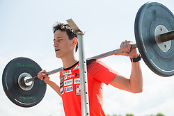 Peter Prevc during fitness training of Slovenian Ski jumping Men team, on May 8, 2018 in Stadium Kranj, Slovenia. Photo by Vid Ponikvar / Sportida