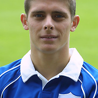 St Johnstone FC photocall season 2001/02<br />Ross Forsyth<br /><br /><br />Picture by Graeme Hart.<br />Copyright Perthshire Picture Agency<br />Tel: 01738 623350  Mobile: 07990 594431
