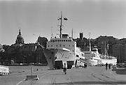 Finlandsbåten Bore vid kaj på Skeppsbron.